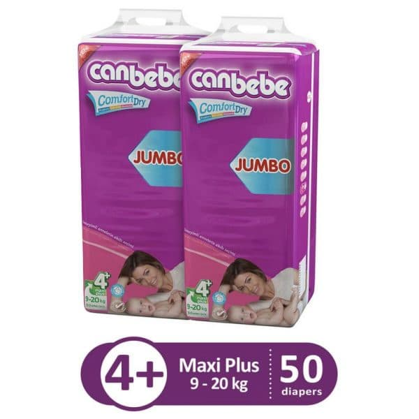 CANBEBE PACK OF 2 JUMBO PACK FOR MAXI PLUS 50PCS