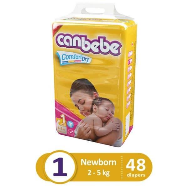 CANBEBE SUPER ECONOMIC PACK NEW BORN 48PCS
