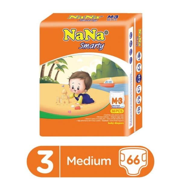 NANA SMARTY DIAPERS JUMBO MEDIUM 66PCS